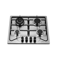 Popular Stainless Steel Four Burner Gas Hob Built In 110V Auto Ignition For Cooking Manufactures