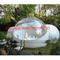 Inflatable bubble tent outdoor with 2 tunnels,plastic bubble balloon Manufactures