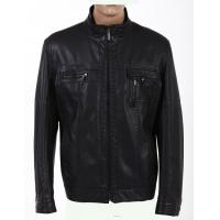 OEM 100% Viscose, Cool and Fashionable, Black Trendy Mens Designer PU Leather Jackets Manufactures