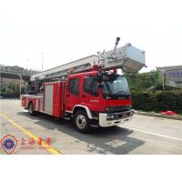 Quality Four Door Structure Fire Engine Ladder Truck ISUZU Chassis With 200L Fuel Tank for sale