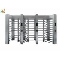 Fingerprint Stainless Steel Turnstile Full Height Systems IC / ID / Barcode Control Manufactures