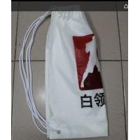 Quality White Double Plastic Drawstring Backpack For Riding , Playing , Swimming for sale