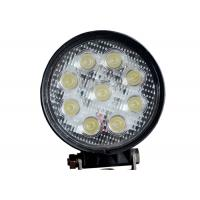 Round 9 LED 12V LED Work Lights Cars 24v 4.5 Inch 27W With CREE Chips Manufactures