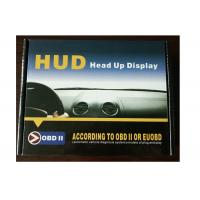OBD2 Interface Digital Speedometer On Windshield , 4e Hud Powertrain Heads Up Display Manufactures