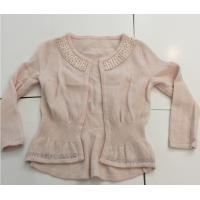 Hot Fix Rhinestones Kids Knitted Sweater Cardigan Long Sleeve For Girls Manufactures