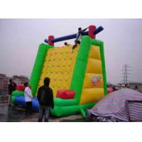 Large Playground Inflatable Climbing Wall 0.55mm PVC tarpaulin For Family Manufactures