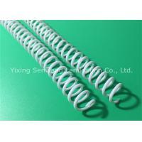 Quality Proposals 7.9MM White Spiral Binding Coils Standard Pitch With Plastic Material for sale