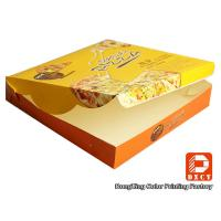Yellow Cool Small Empty Folding Pizza Box Recycling Glossy Lamination Craft Manufactures
