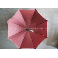 Fiberglass 8 Ribs Promotional Gifts Umbrellas Red Strong Sturdy Rain Umbrellas Manufactures