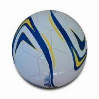 Soccer Ball with Classic Design and CE Mark, 68 to 70cm Circumference, 2.7mm Shiny Soft PVC/EVA Manufactures