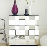 Faceted Mirrored Bedroom Chest Table W50 * D35 * H60cm Size 40kg Weight Manufactures