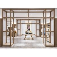 China Fashion Modern Clothing Display Shelves MQ-S112 Wooden With Baking Paint on sale