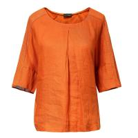 Buy cheap Orange Linen Jersey Mixed Latest Casual Ladies Clothing Short Sleeve Winter Style from wholesalers