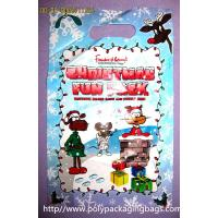 Christmas Fun Pack Plastic Gift Bags With Handles Customized Manufactures