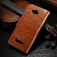 Magnetic Alcatel Leather Case For Pop C7 , Side - Open  Pu Leather Wallet Case 62.7g Manufactures