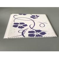 Customized Purple Flower Pvc Decorative Panels Transfer Printing Fireproof Manufactures