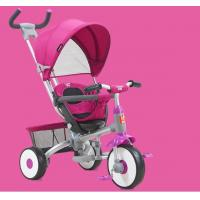 On Foots / Handle Baby Tricycle Bike Adjustable Canopy With Parent Push Handle Manufactures