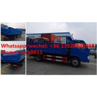 HOT SALE!dongfeng 4*2 LHD 4tons dump garbage truck, Factory sale best price dump garbage truck with hydraulic cover Manufactures