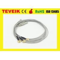 Buy cheap Customize Flexible Soft EEG Cable With Gold Plated Copper Cup , eeg electrodes from wholesalers