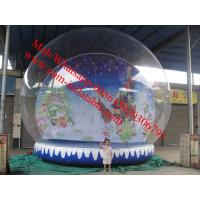 Quality christmas photo snow globe outdoor snow globe inflatable decorations for sale