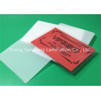 Buy cheap Round Corner Hot Lamination Film , Moisture Proof Laminating Sleeves Pouches from wholesalers
