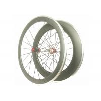 Front 50MM Lightweight Alloy Road Bike Wheels V Shape With Toray 700 High Stiff Manufactures