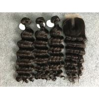 Virgin Loose Deep Wave 100% Brazilian Virgin Hair With Closure Natural Color Manufactures