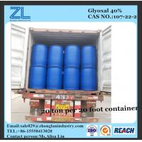 glyoxal40% as crosslinking agent for paper (Formaldehyde <500 PPM) Manufactures