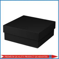Square Shape Matte Black Color Paper Gift Packaging Box Chipboard Material Manufactures