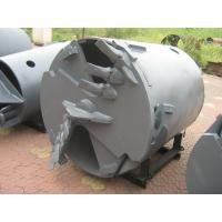 Drilling Rig Components , Rotary Drilling Augers Double Cut Flat Drilling Bucket And Auger Attachment Manufactures