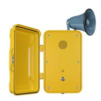 Impact Resistant Industrial Weatherproof Telephone Equipped With Horn And Lamp Manufactures