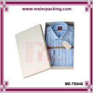China Cardboard shirt packaging box/Custom white paper printed apparel box ME-TB048 on sale
