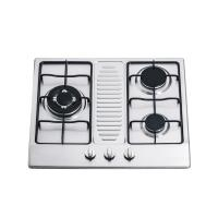 Kitchen Stainless Steel 3 Ring Gas Hob / Gas Cooktop Support NG / LPG 590*510mm Manufactures