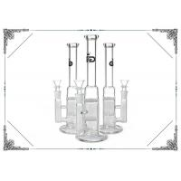 Grace Straight Tube Bong Clear Glass Water Pipe Double Honeycomb Perc Hookah Manufactures