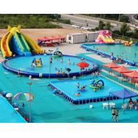 PVC Tarpaulin Inflatable Water Playground Giant Inflatable Aqua Park For Adult / Kids Manufactures