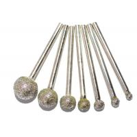 Ball Head Diamond Burr Bits / Glass Engraving Burrs For Electric Grinding Accessories Manufactures