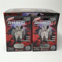 China Custom RHINO 96 Pill Blister Pack Packaging 3D Lenticular Card Eco - Friendly on sale