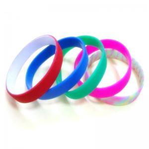 Custom Dual UV silicone bracelets wristband Manufactures