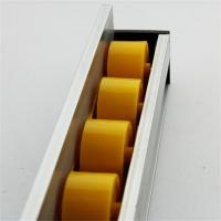Buy cheap Higher Side Aluminum Extruded Shapes Track Yellow Wheel 4 M 34mm Diameter from wholesalers
