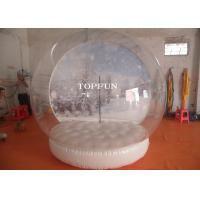 Exhibition Show Christmas Inflatable Snow Globes Outdoors 3m Diameter Manufactures