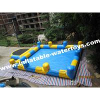 0.6mm PVC Tarpaulin Inflatable Water Pools with step and Pillar and Net for amusement park Manufactures