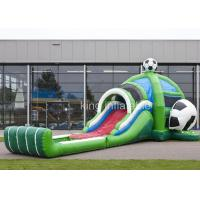 PVC Inflatable Outdoor Sports Games Football Bouncer Slide Combo Manufactures