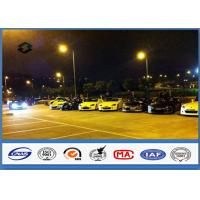 8m Single Arm Galvanized Parking Lot Light Pole for Road / Square / Street Manufactures