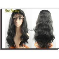 Human Hair Front Lace Wigs With Bangs  Manufactures