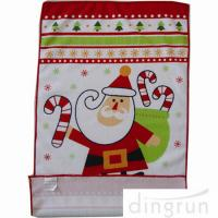 Custom Printed Microfiber Kitchen Towels Christmas Design Low Cadmium Manufactures