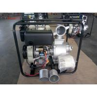 Portable 4 Inch Diesel Driven Water Pump With Electric Start And Hand Start System Manufactures