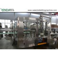 China 330ml Beverage Filling Machine PET Bottle Washing Filling Capping Machine 3.8KW on sale