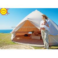 Comfortable Outdoor Canvas Bell Tent 100% Waterproof Cotton Camping Tent Manufactures