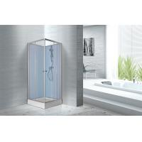 Quality Fitness Halls 800 X 800 X 2250mm Glass Shower Stalls With Silver Aluminum Frame for sale