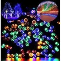 Plastic Outdoor Colorful Solar LED String Lamp For Garden / Park Manufactures